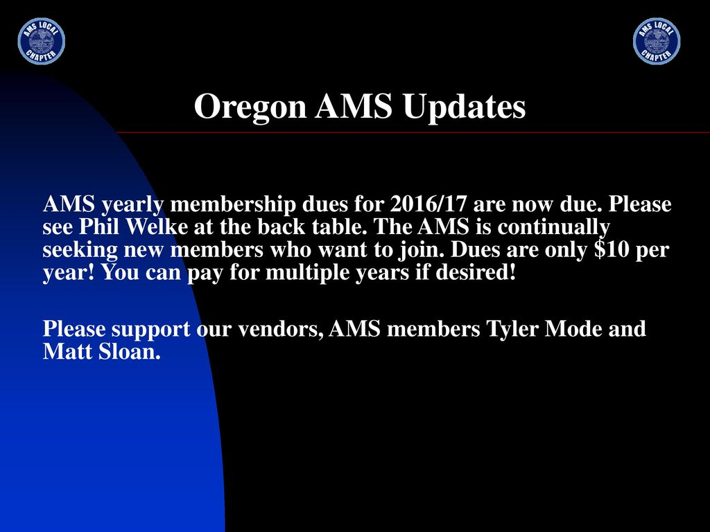 The Oregon Chapter of the American Meteorological Society