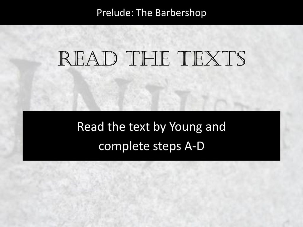 prelude the barbershop essay