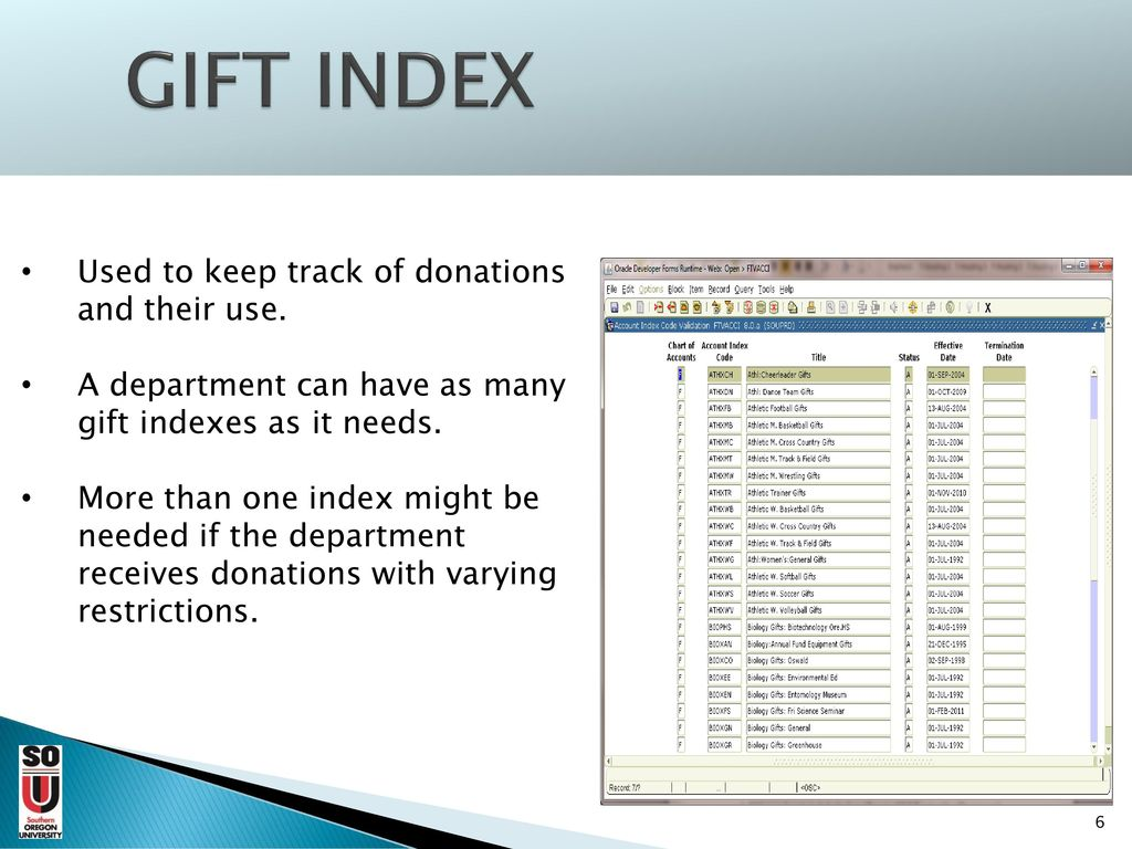 gift deposits to report a cash gift received by a department ppt
