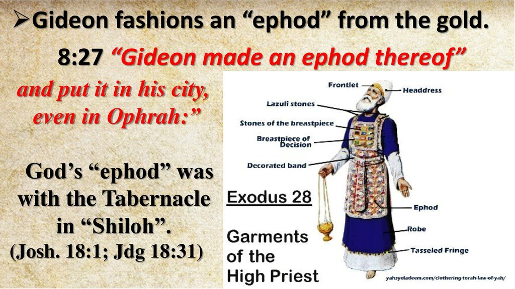 Image result for gideon made an ephod