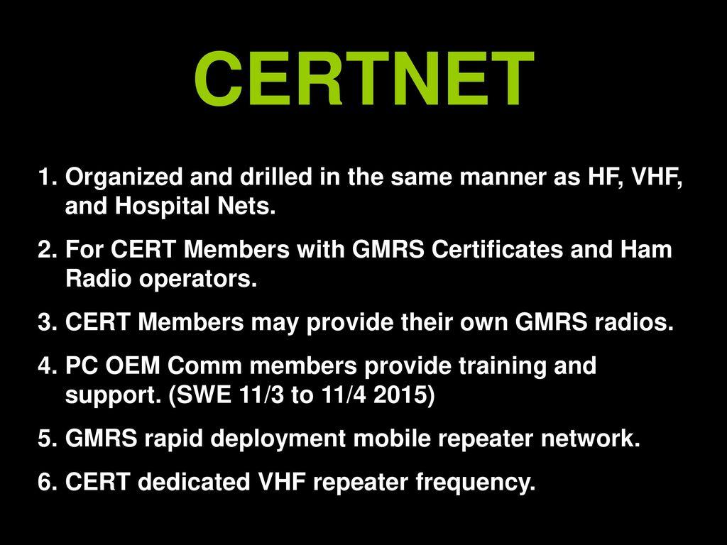 CERTNET  - ppt download
