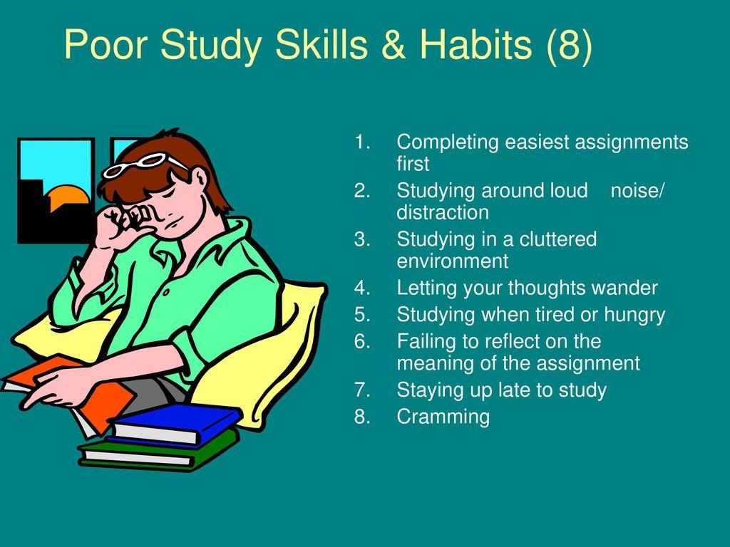 poor study habits