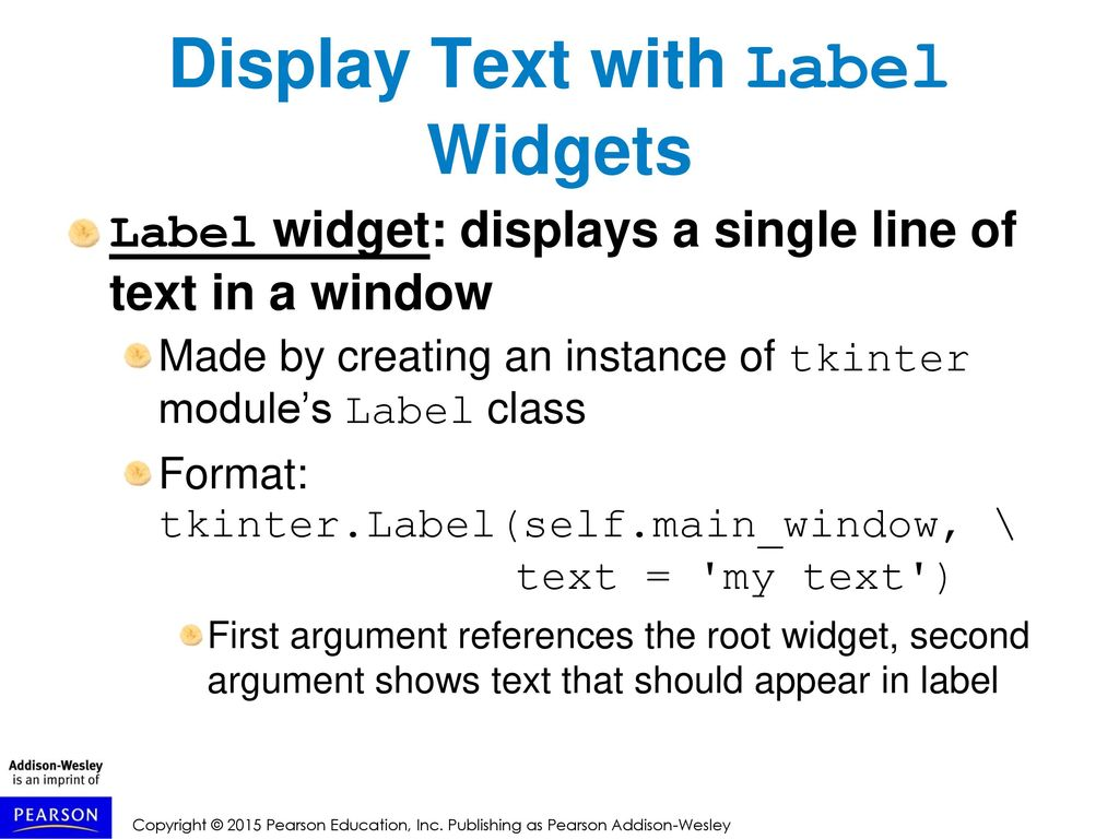 Tkinter Display Text