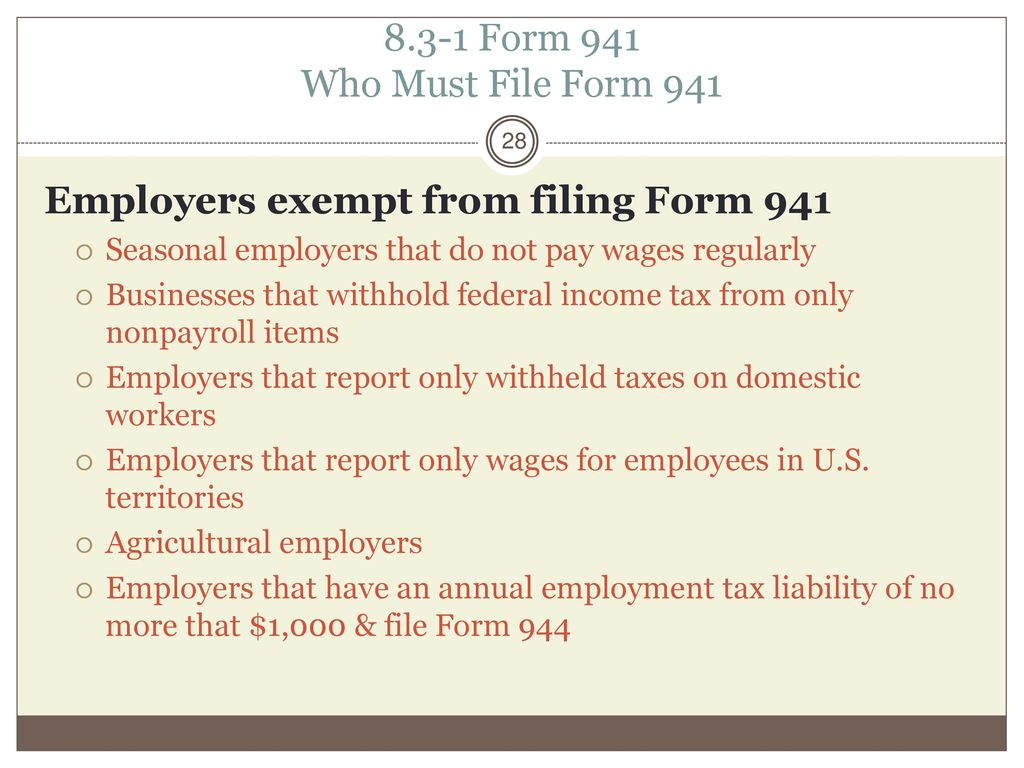 Depositing and Reporting withheld tax - ppt download