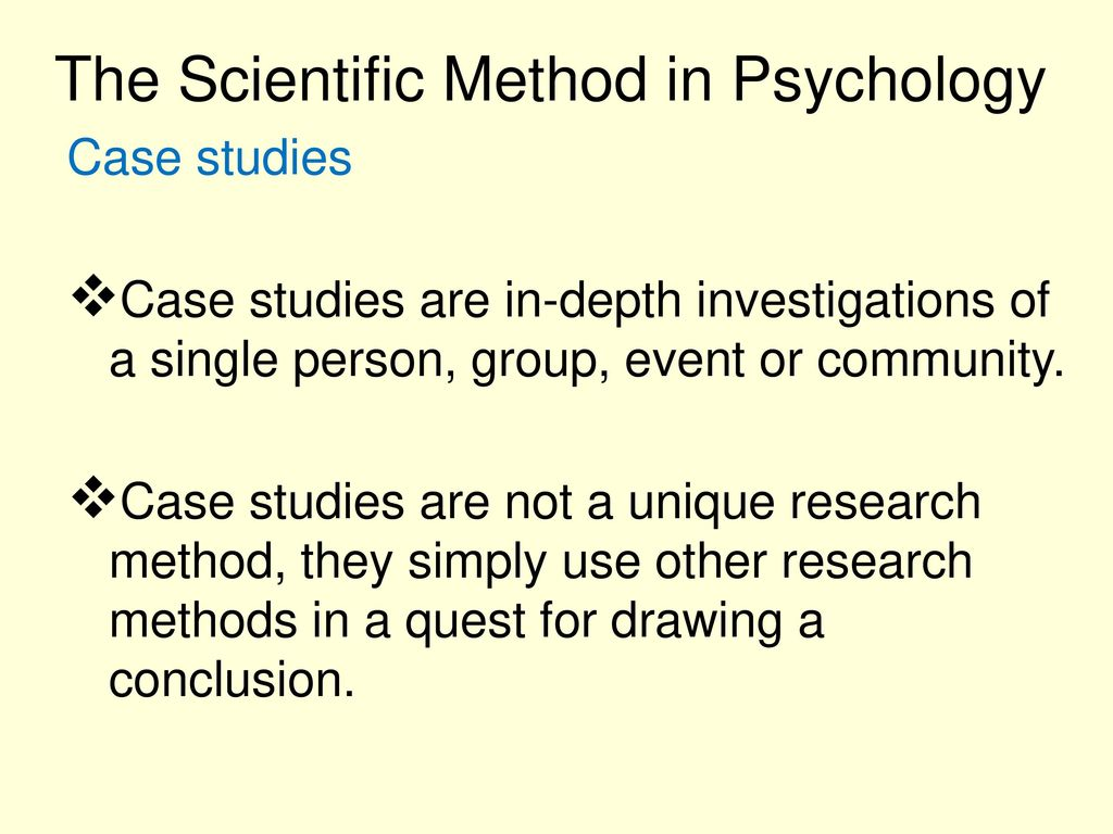 The Scientific Method in Psychology - ppt download