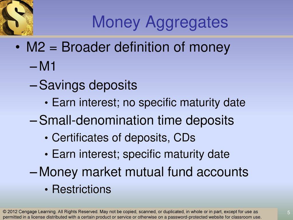 Money Aggregates Money Aggregates M1 Narrow Definition Of Money