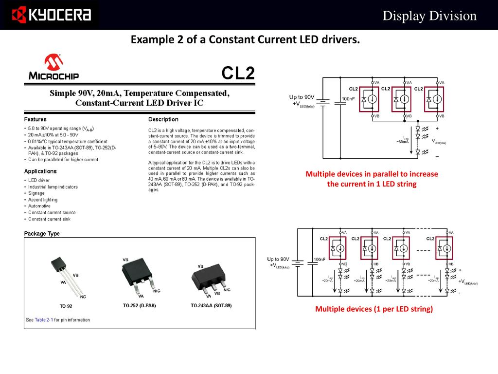 Led Driving Basics For Non Ccc Type Displays Ppt Download Current Source Circuit With 2 Bjt S Example Of A Constant Drivers