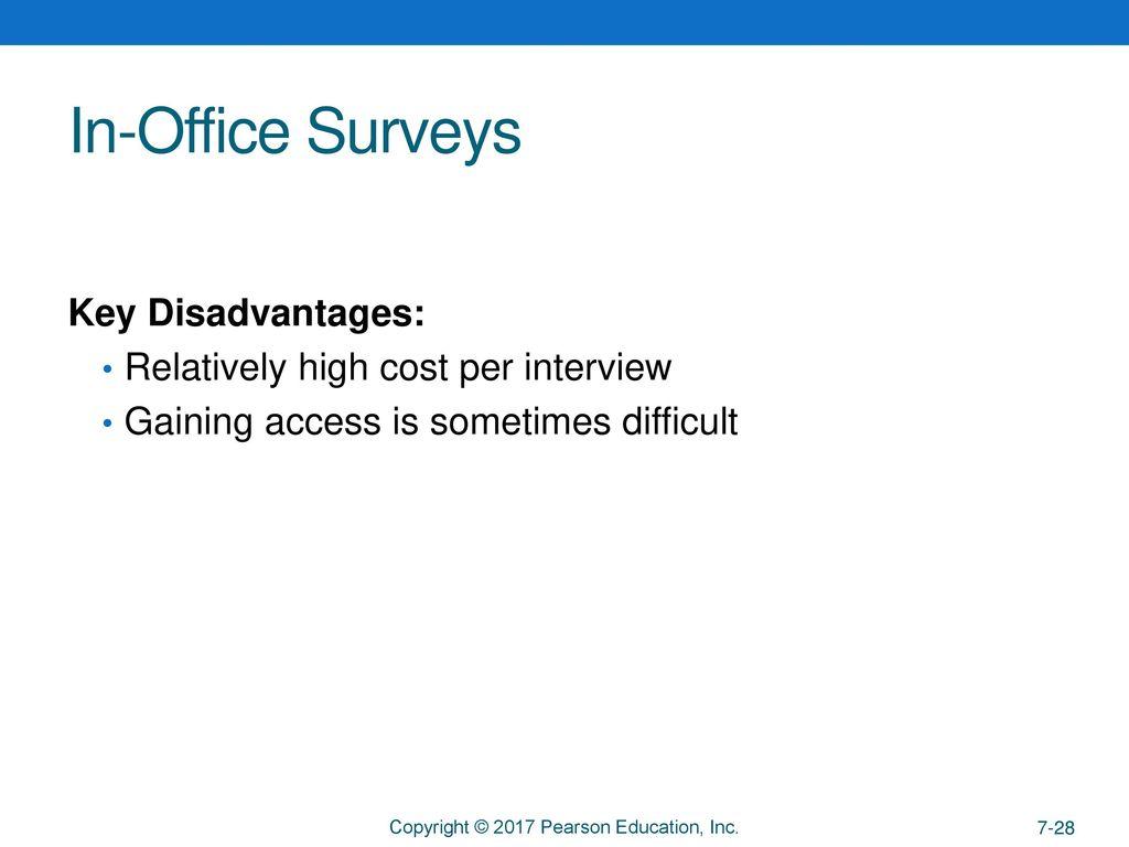 in office surveys key disadvantages