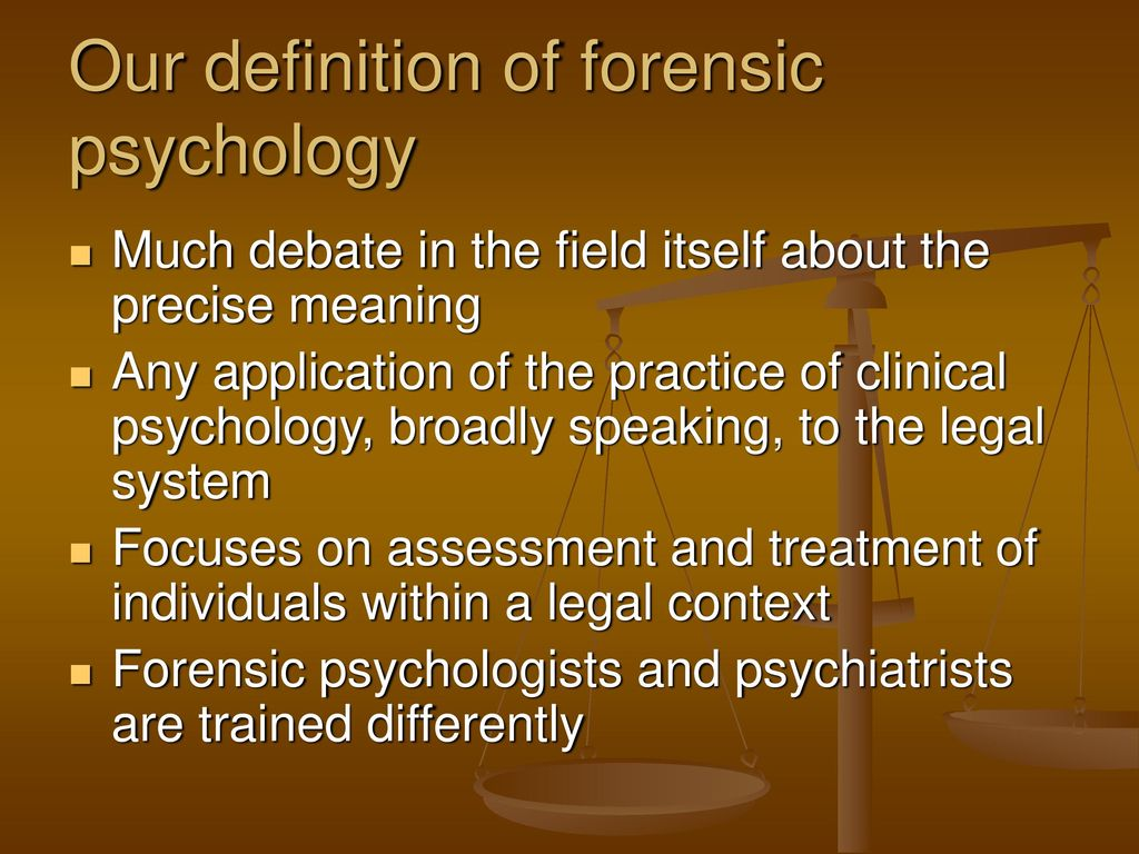 What Is Forensic Psychology An Introduction Ppt Download