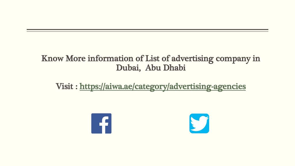 List of advertising company in Dubai - ppt download