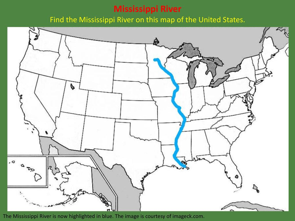 Map Of United States With Mississippi River Highlighted ...