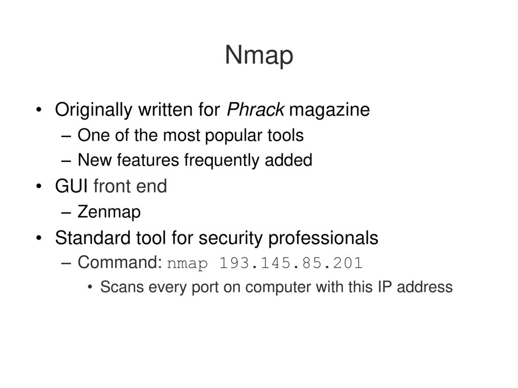 what are the differences between zenmap gui nmap and nessus