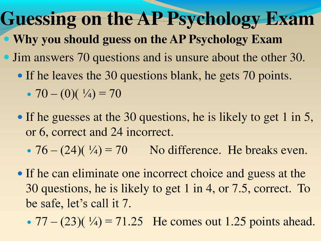 Success on the AP Psychology Exam - ppt download