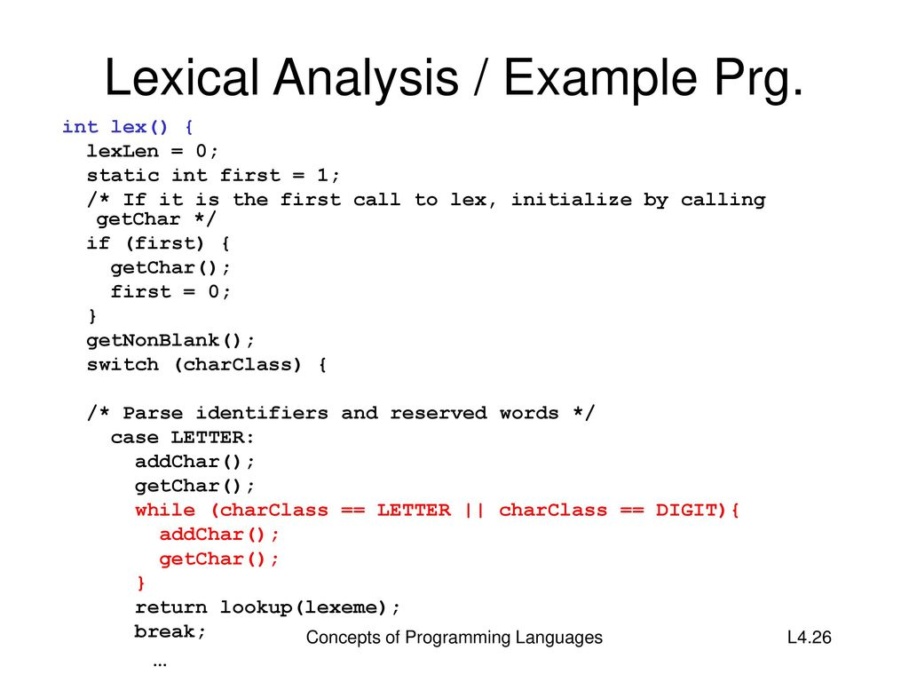 Lexical analysis of the word - what is it Examples