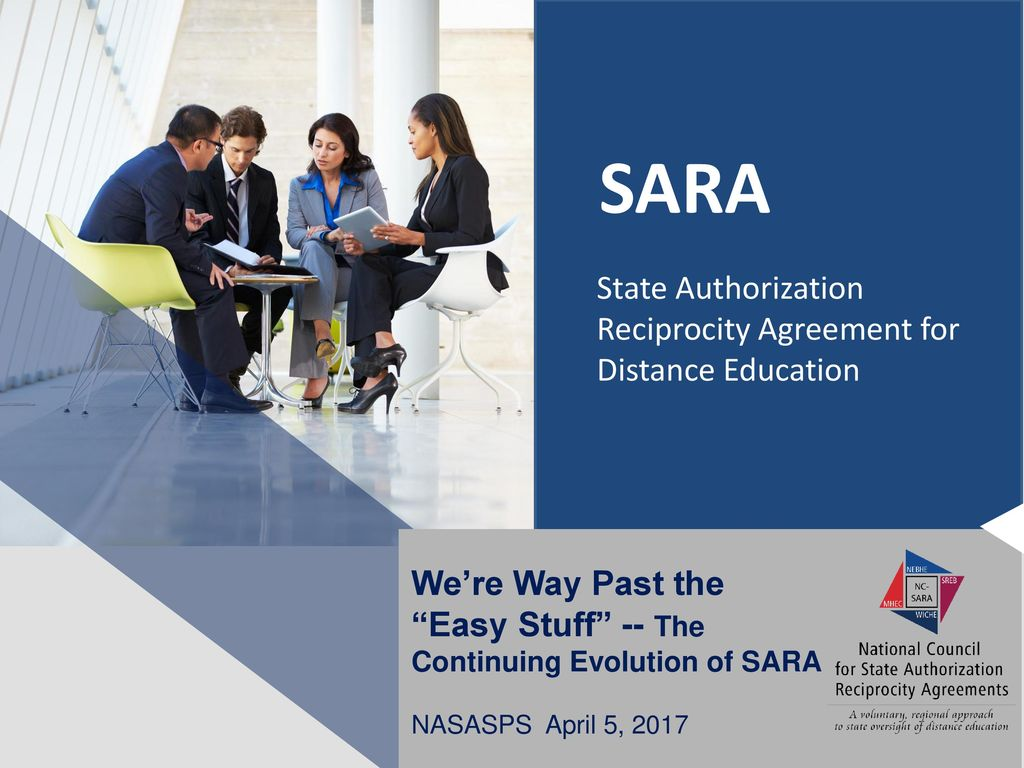 Sara State Authorization Reciprocity Agreement For Distance