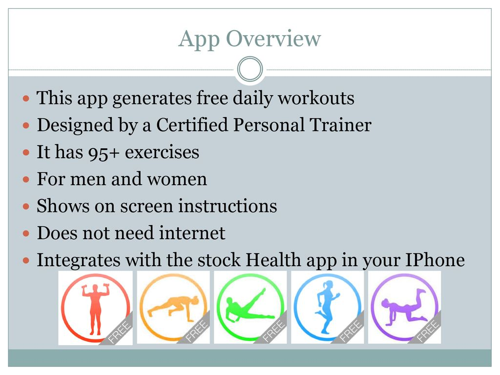 App Overview This Generates Free Daily Workouts