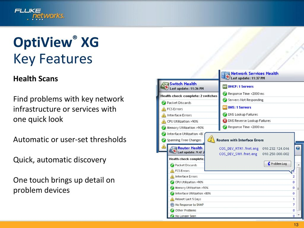 OptiView™ XG Network Analysis Tablet - ppt download