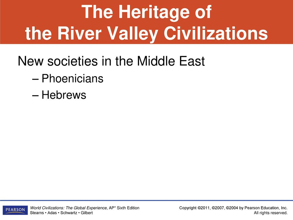 The Heritage of the River Valley Civilizations