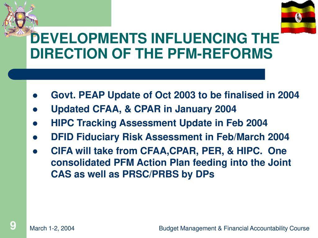 PUBLIC FINANCIAL MANAGEMENT REFORMS in UGANDA - ppt download
