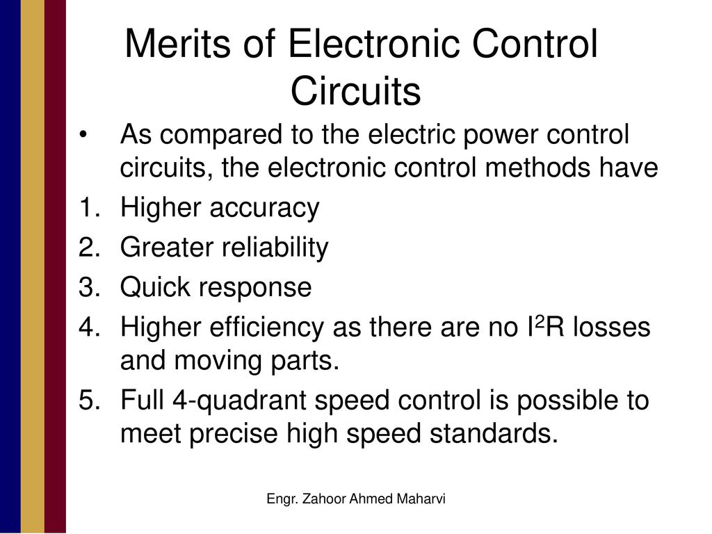 Electronic Speed Control Method For Dc Motors Ppt Download Ac Motor Schematic Diagram Circuit A Merits Of Circuits 4 Methods All The