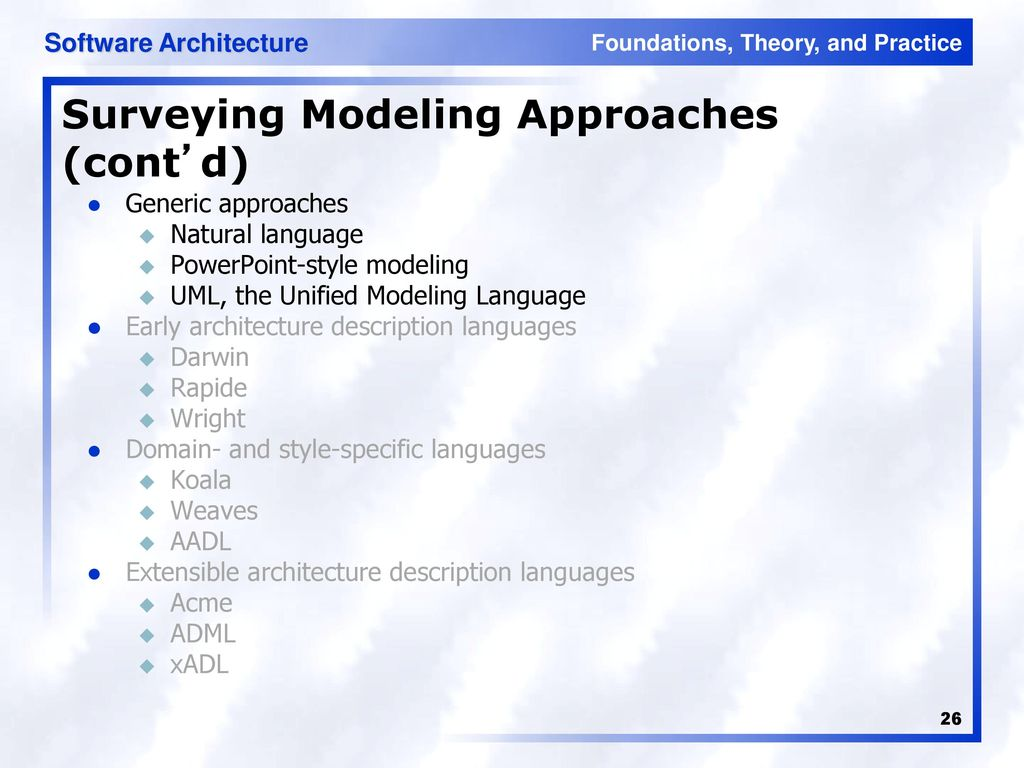 Software Architecture - ppt download
