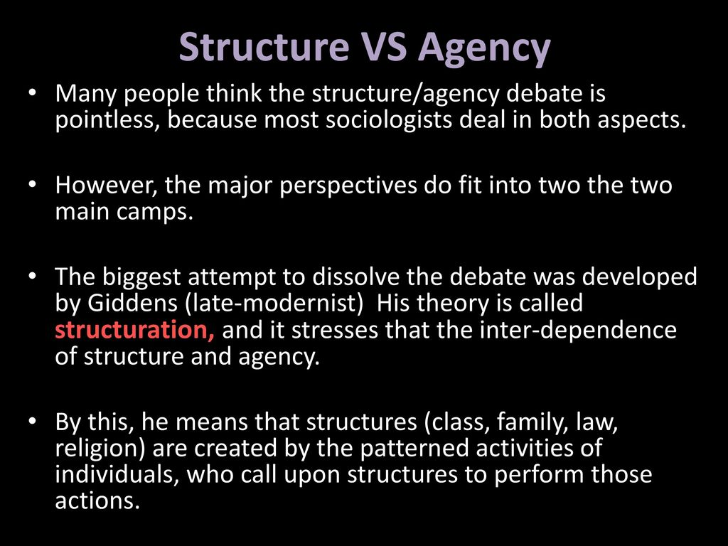 structures and agency On the agency side, this is how we describe how rigid team structures are an agency may have a rigid structure where only certain people work on certain clients and projects or a looser structure that entails that teams have more freedom to interact an collaborate.