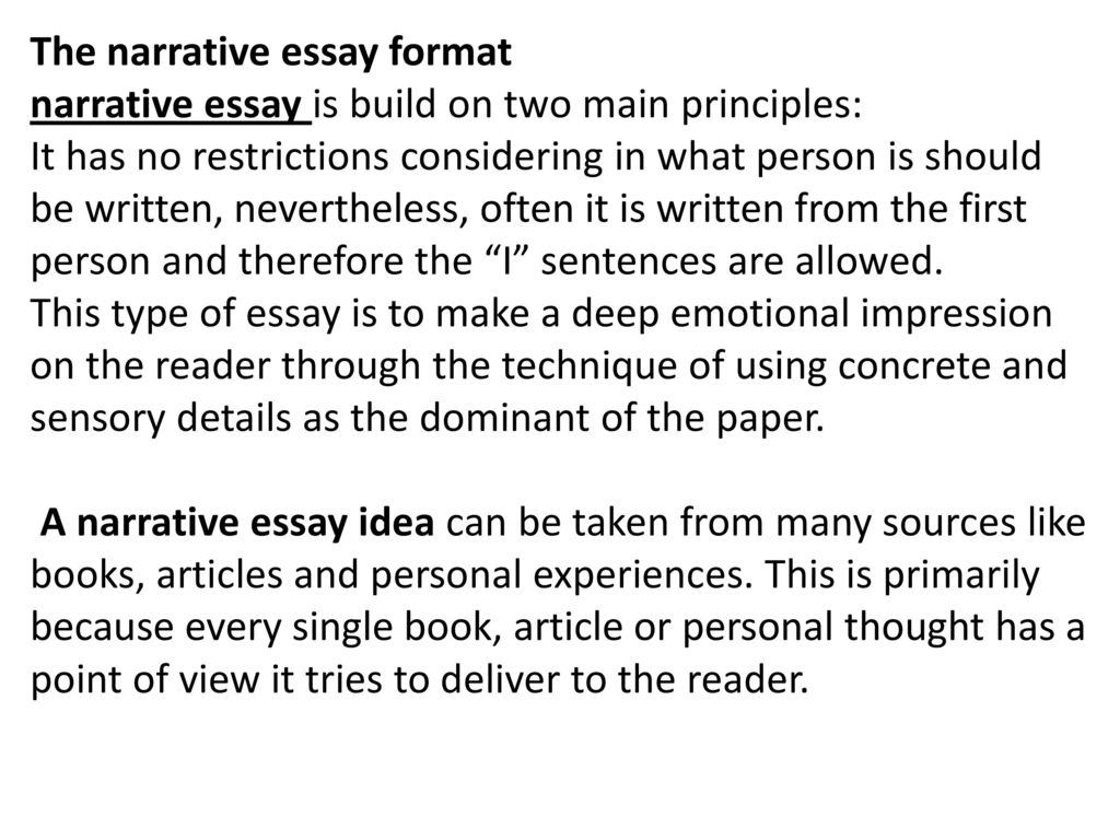 Narrative essay. - ppt download