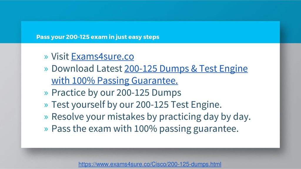 Pass Your Cisco Exam with 100% Passing Guarantee by