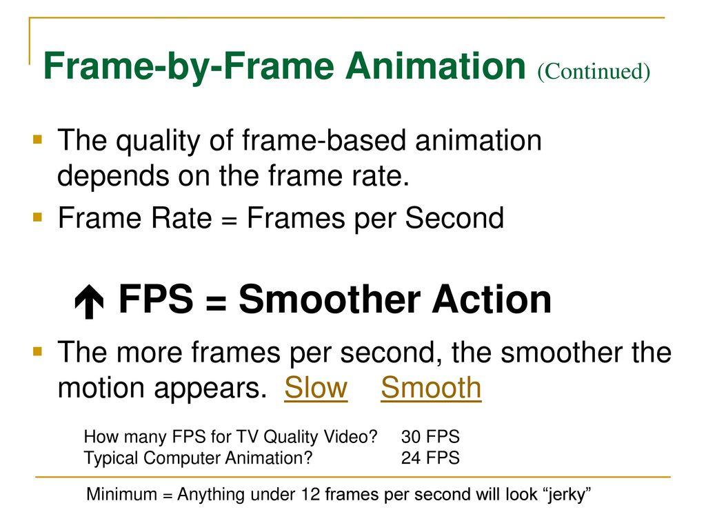 Atemberaubend Motion Picture Frame Rate Zeitgenössisch - Rahmen ...