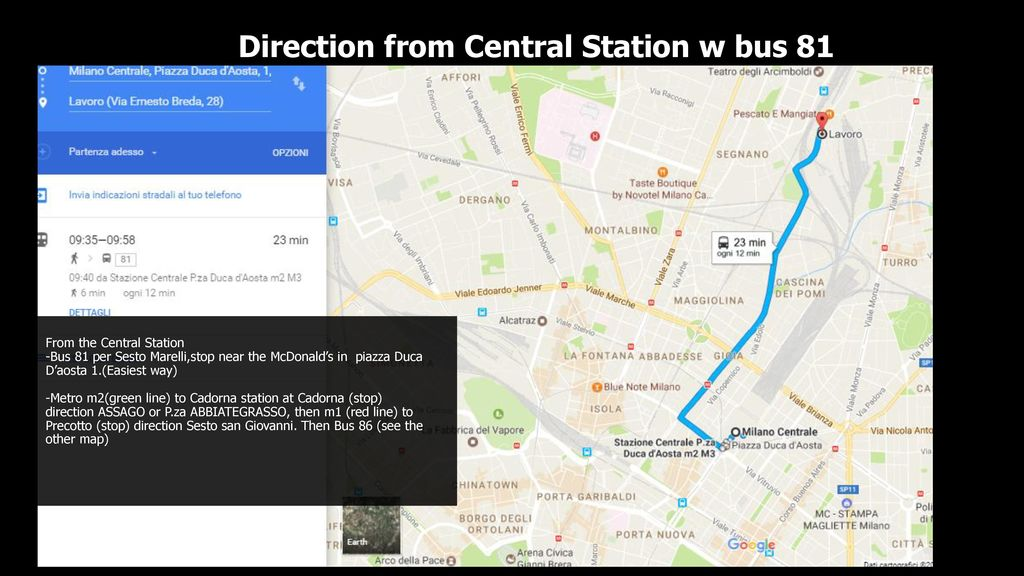 Direction from Central Station w bus ppt download