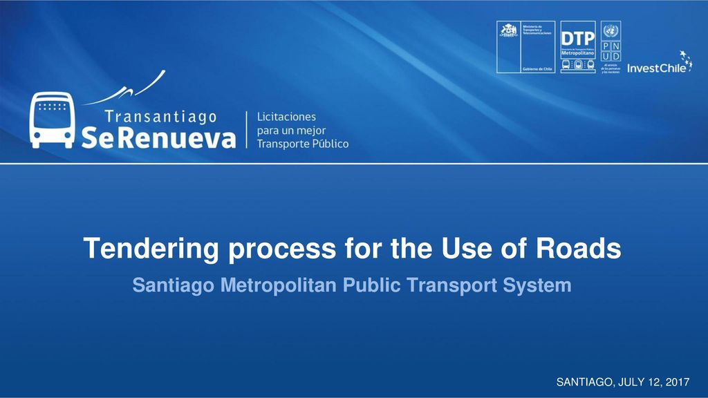 Tendering process for the Use of Roads Santiago Metropolitan