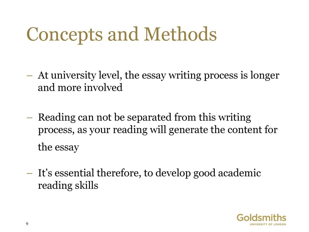 Short English Essays Concepts And Methods At University Level The Essay Writing Process Is  Longer And More Involved Essay On Photosynthesis also Thesis Statement Generator For Compare And Contrast Essay Paul Stocks Centre For English Language  Academic Writing  Ppt  Essay Proposal Format