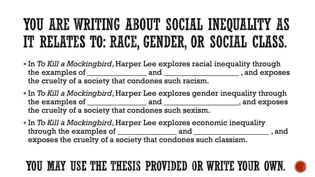 English Extended Essay Topics To Kill A Mockingbird Theme Essay  You  Gender Equality Essay Paper also Essays About English Language To Kill A Mockingbird Theme Essay  Ppt Download English Essay Sample