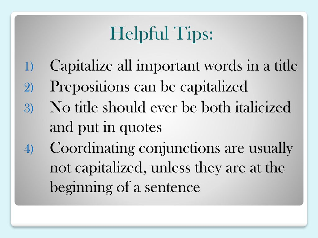Punctuating Titles  - ppt download