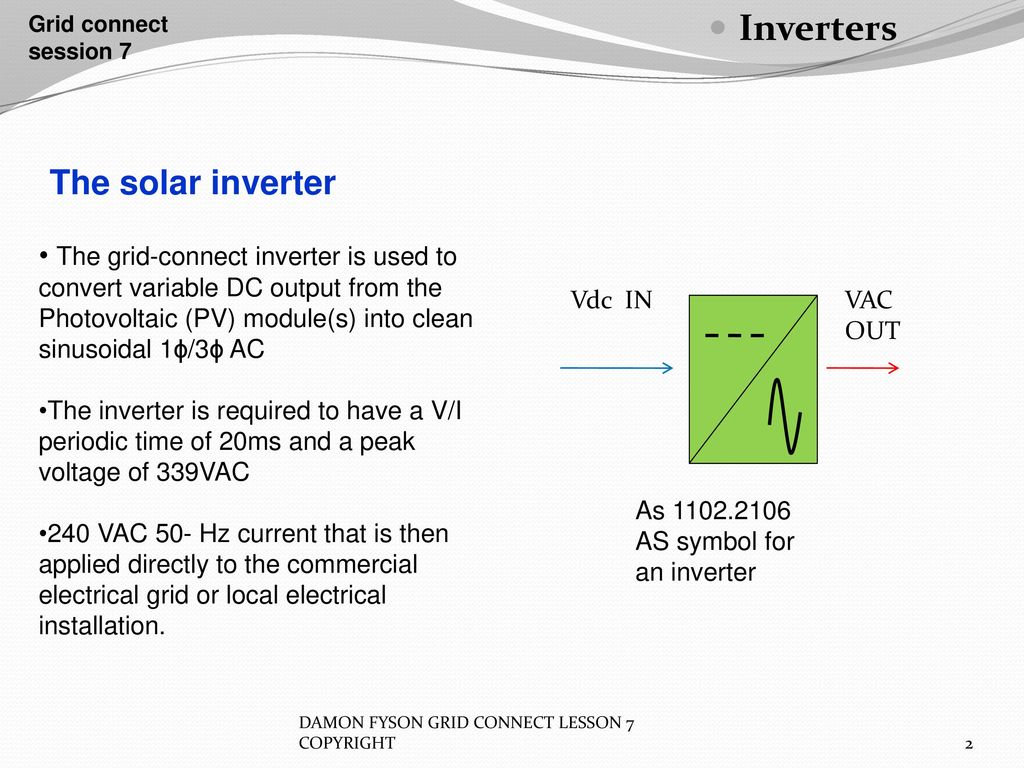 Inverters Grid Connect Session 7 Ppt Download Complete 1 Kva Inverter Circuit Design With 50 Hz Sine Oscillator The Solar