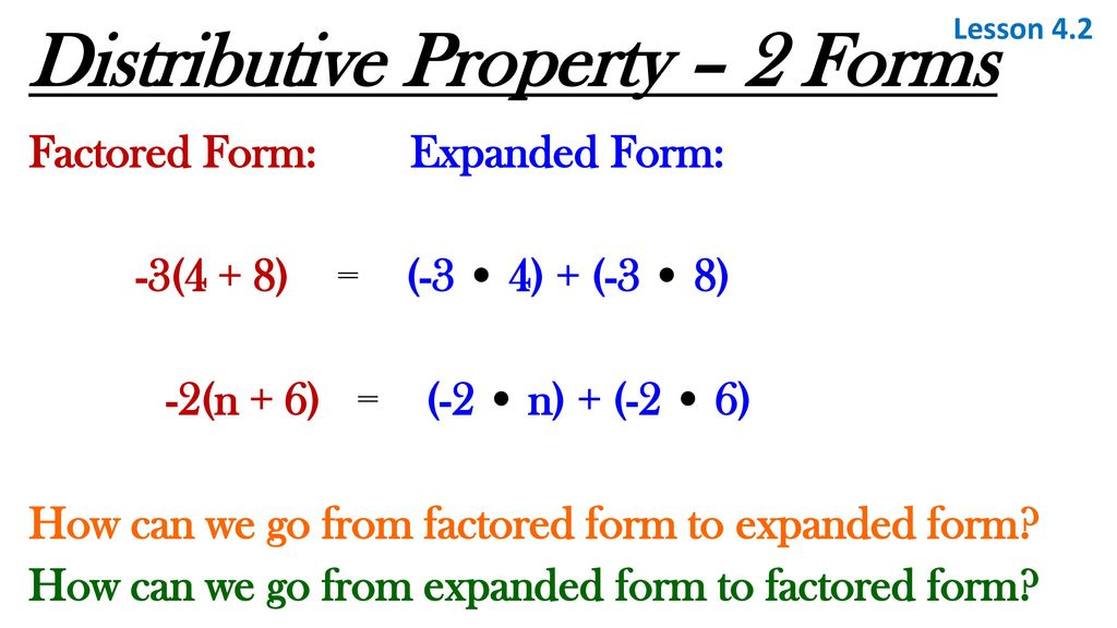 Distributive Property Expanded Form Choice Image Free Form Design