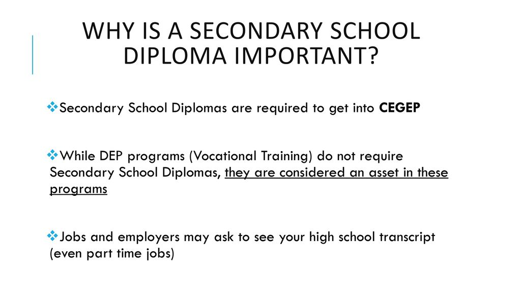 why is getting a high school diploma important