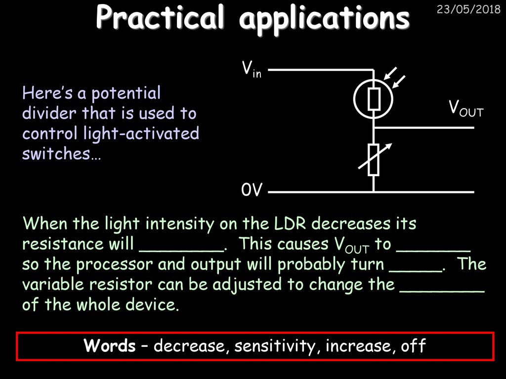 Electricity For Gadgets Ppt Download Simple Thermistor Triggered Switch With Adjustable Threshold It 21 Practical Applications