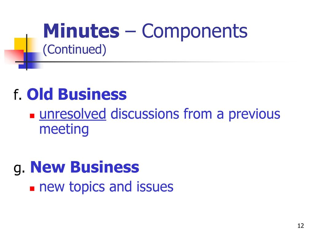 business documents agenda and minutes ppt download
