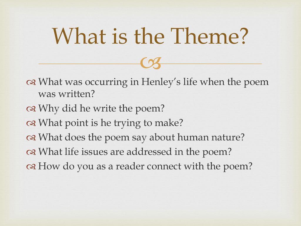 true meaning the poem invictus