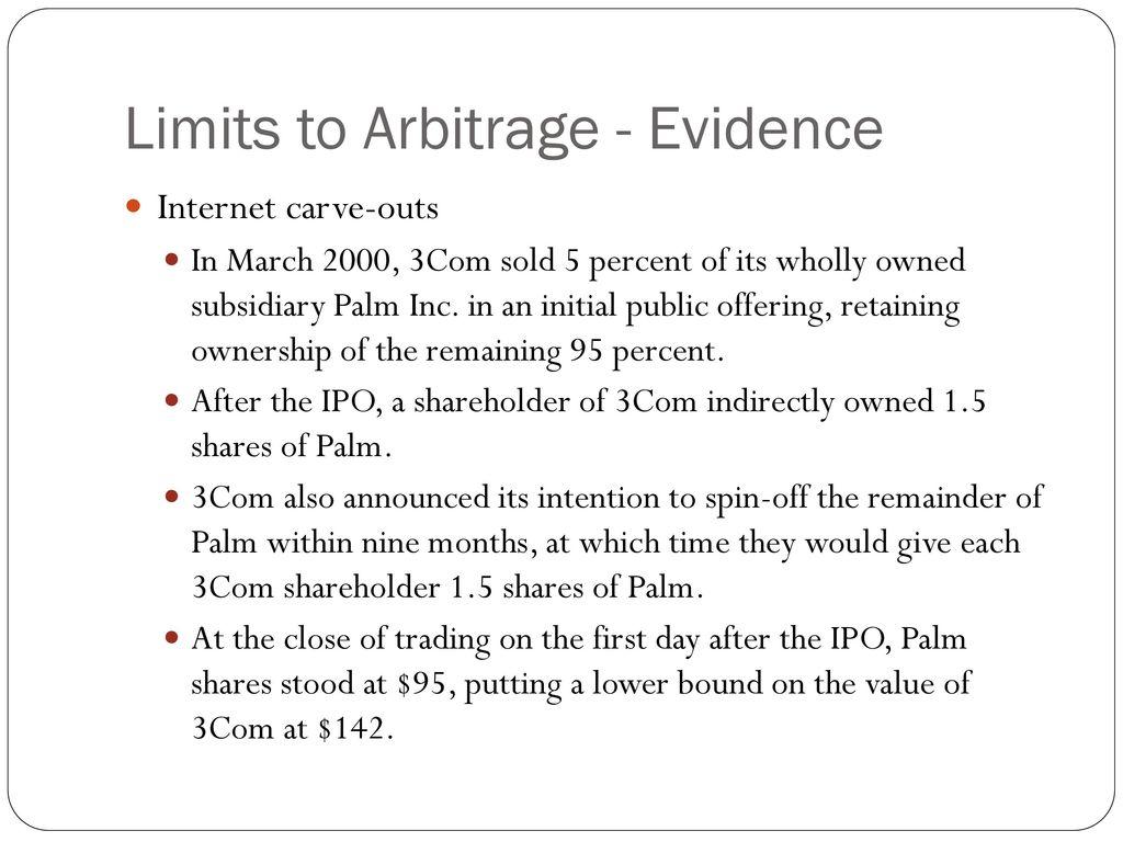 palm 3com arbitrage betting