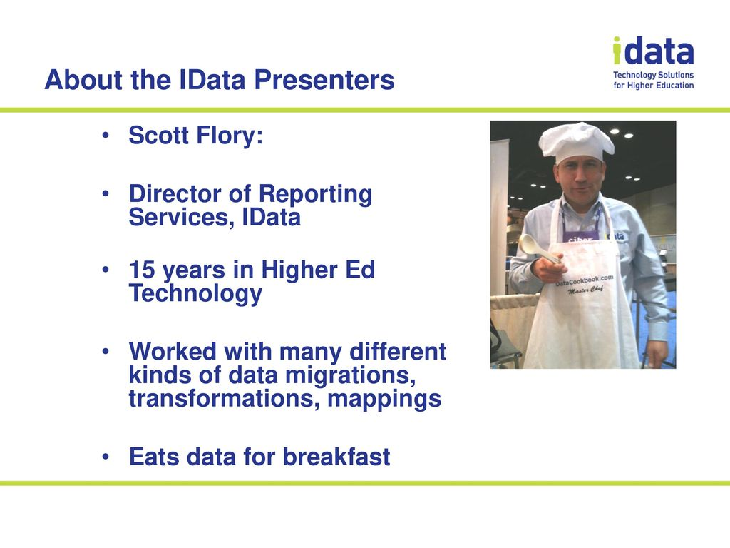 Data Management, Institutional Reporting, & the Data Cookbook - ppt