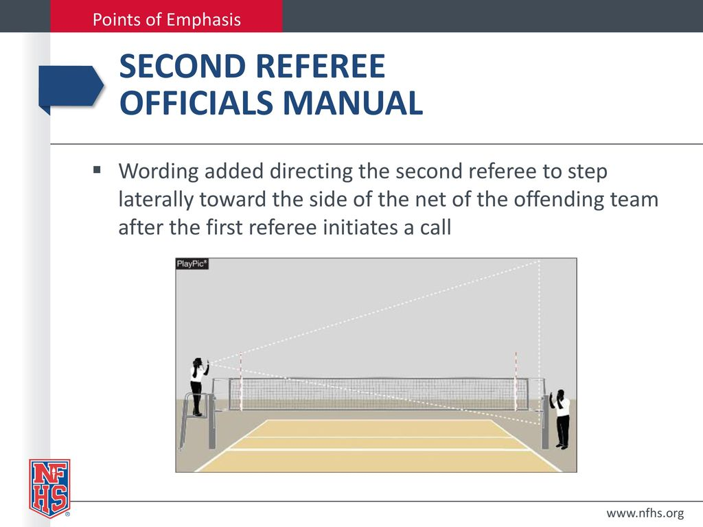 Second referee Officials Manual