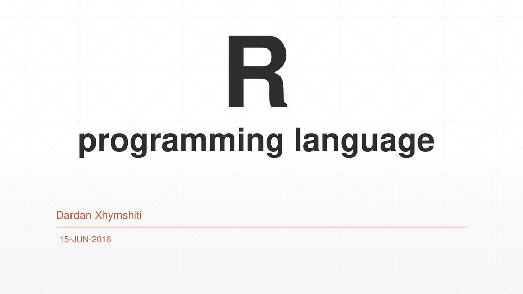 R programming language - ppt download