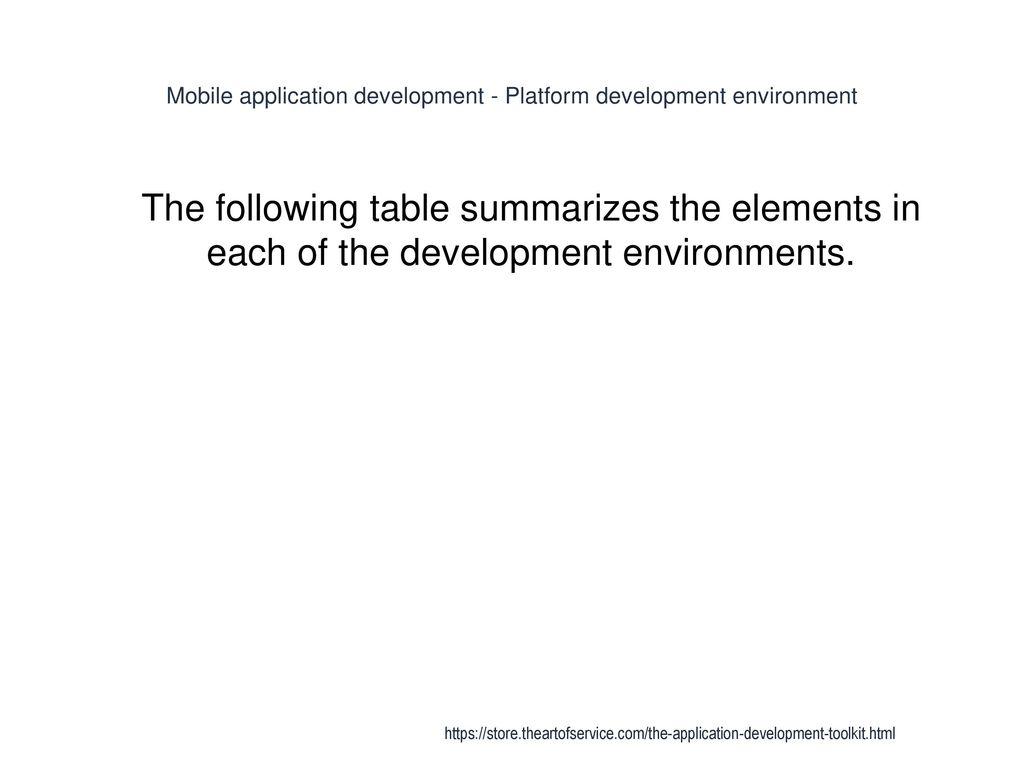 Application Development - ppt download