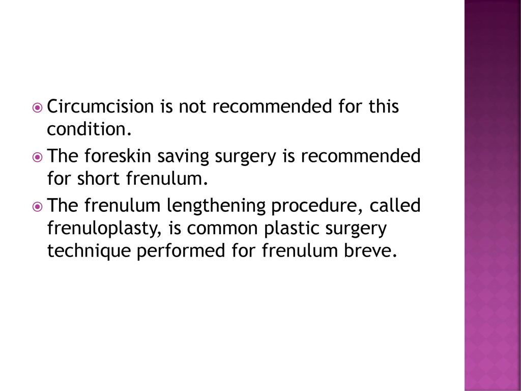 Adult circumcision frenulum apologise, but