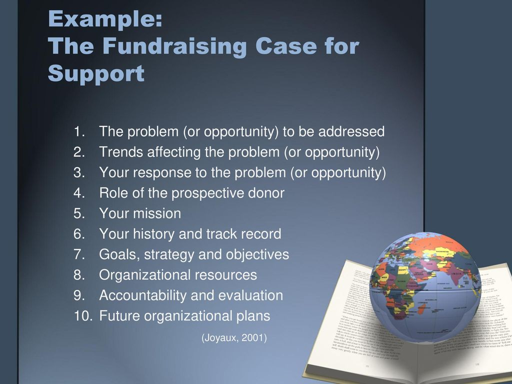 Nonprofit case for support examples   case statement 2017.