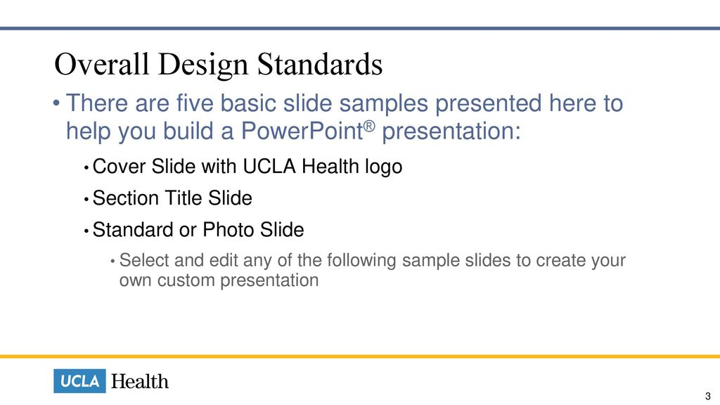 Overall Design Standards