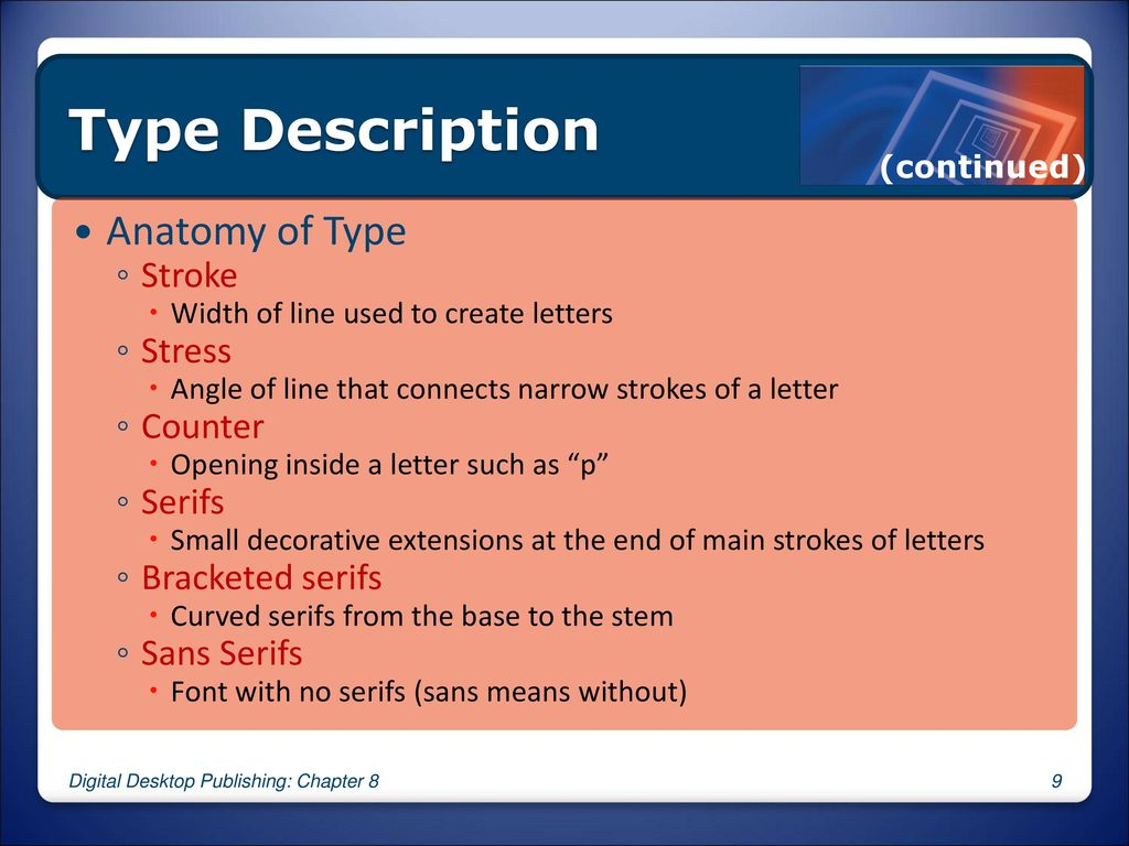 8 Learning Font Basics Desktop Publishing Chapter 8 Ppt Download