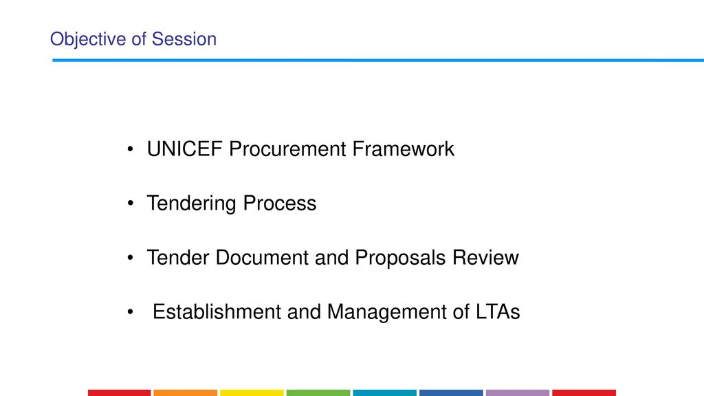 UNICEF Procurement Process and Control Oversights - ppt download